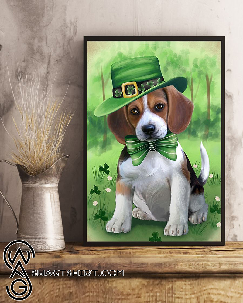 St patrick's day beagles poster