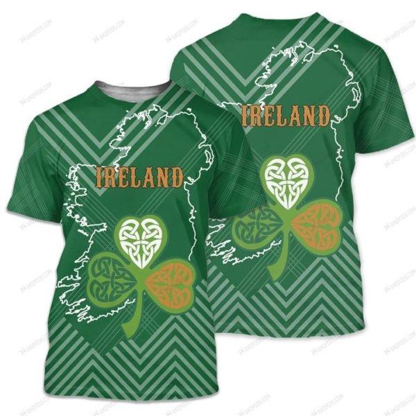 St patrick's day ireland full printing tshirt