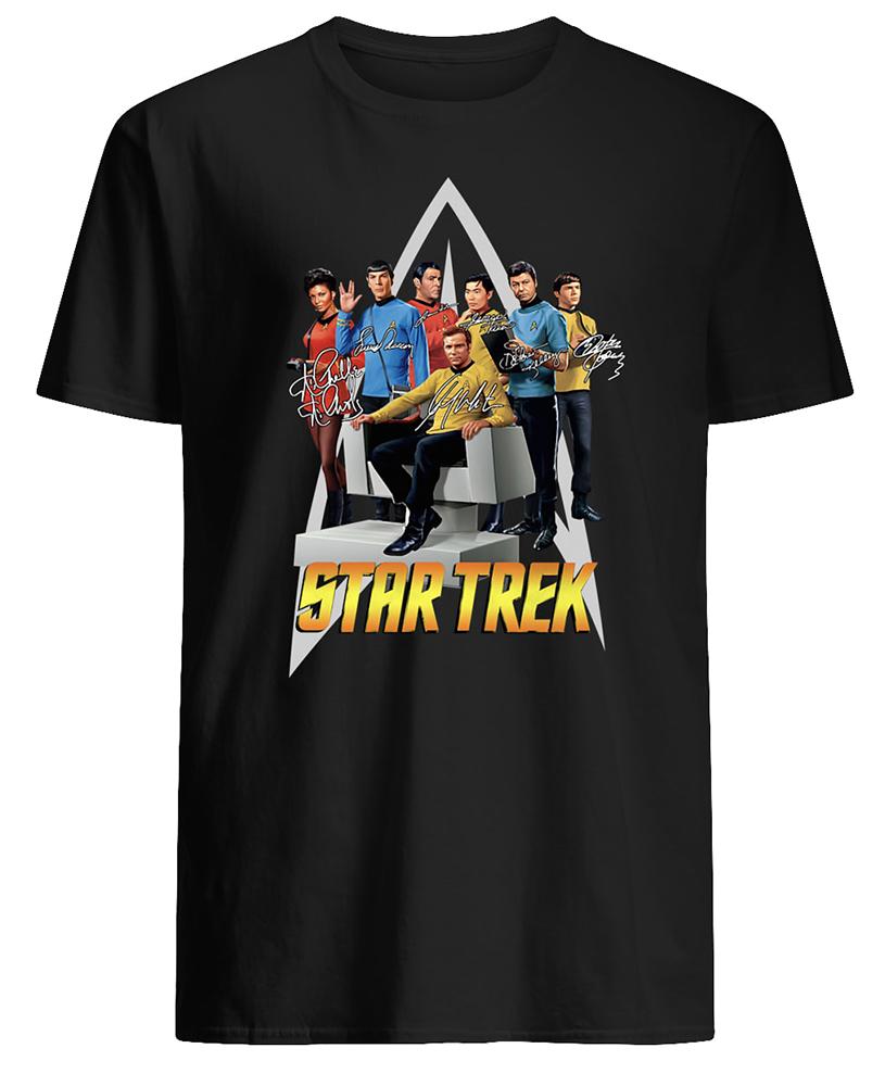 Star trek movie signatures mens shirt