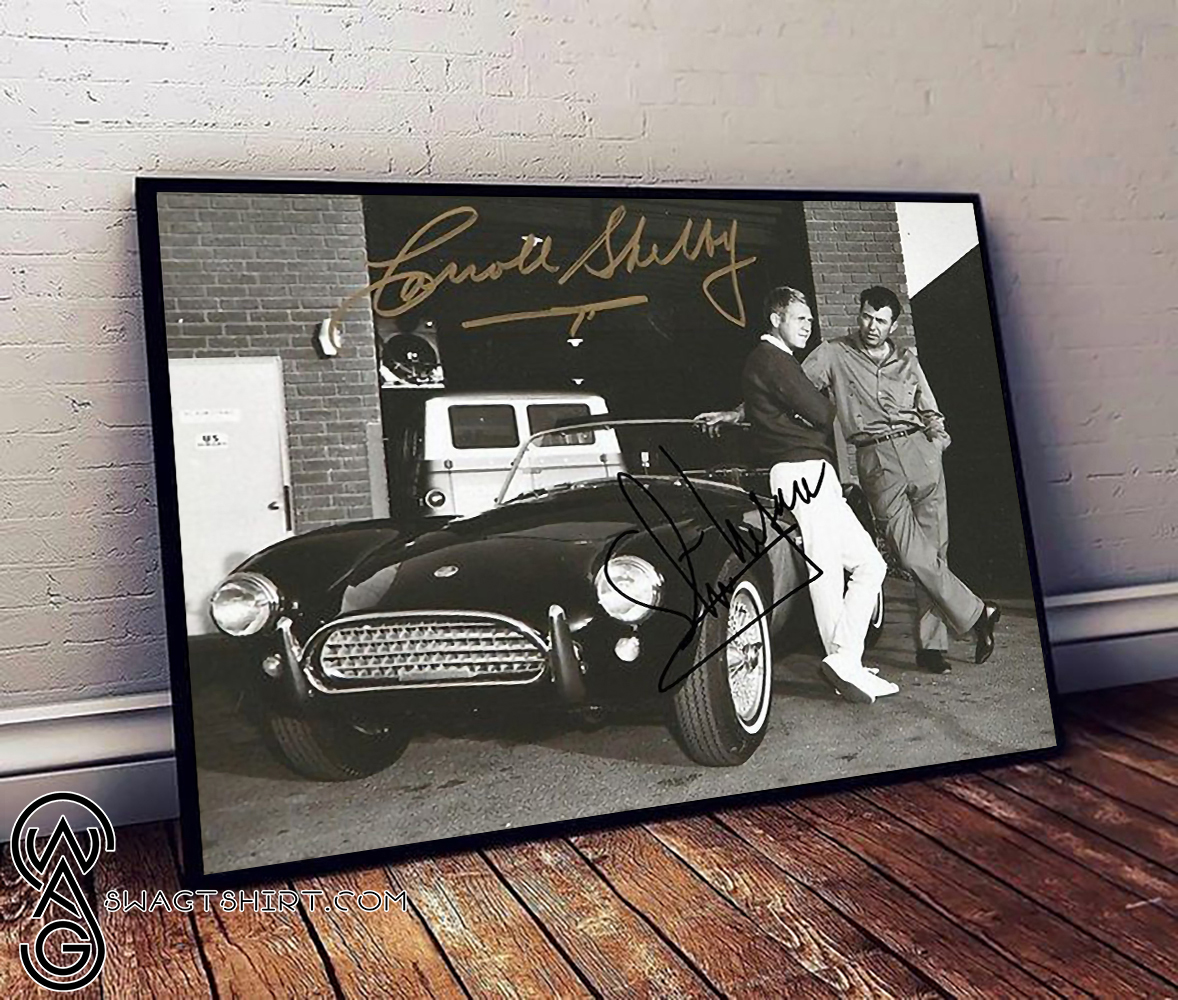 Steve mcqueen and carroll shelby poster