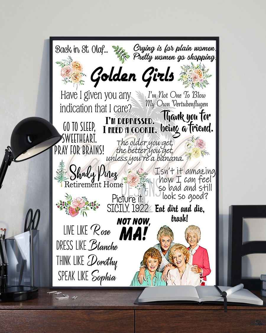 Thank you for being a friend golden girl quotes poster 2