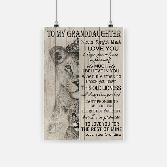 The lion king to my amazing granddaughter never forget how much I love you grandma poster 1