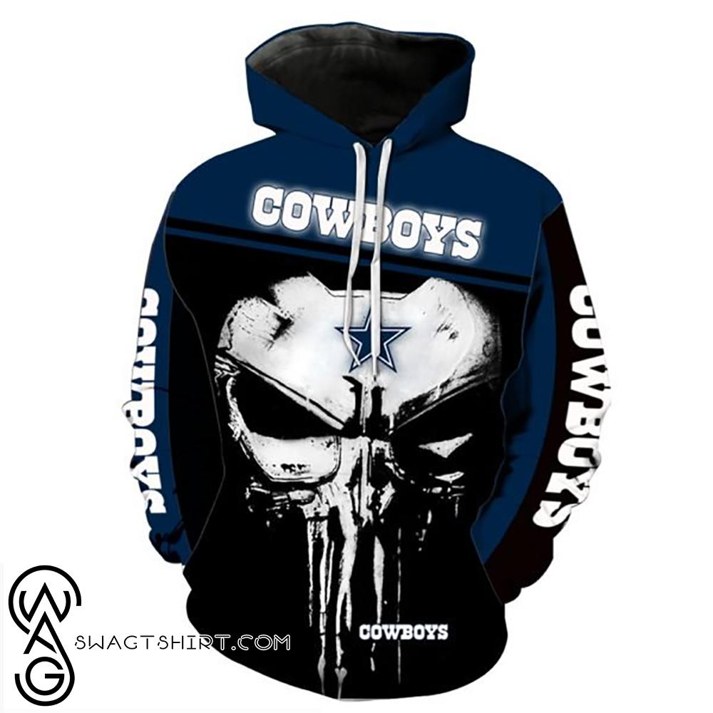 The punisher dallas cowboys full printing shirt