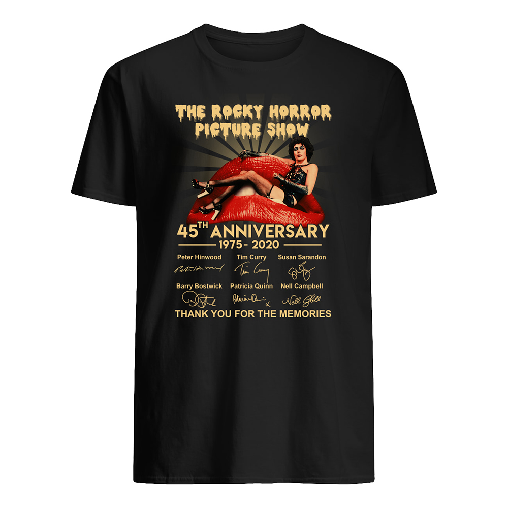 The rocky horror picture show 45th anniversary 1975-2020 signatures mens shirt