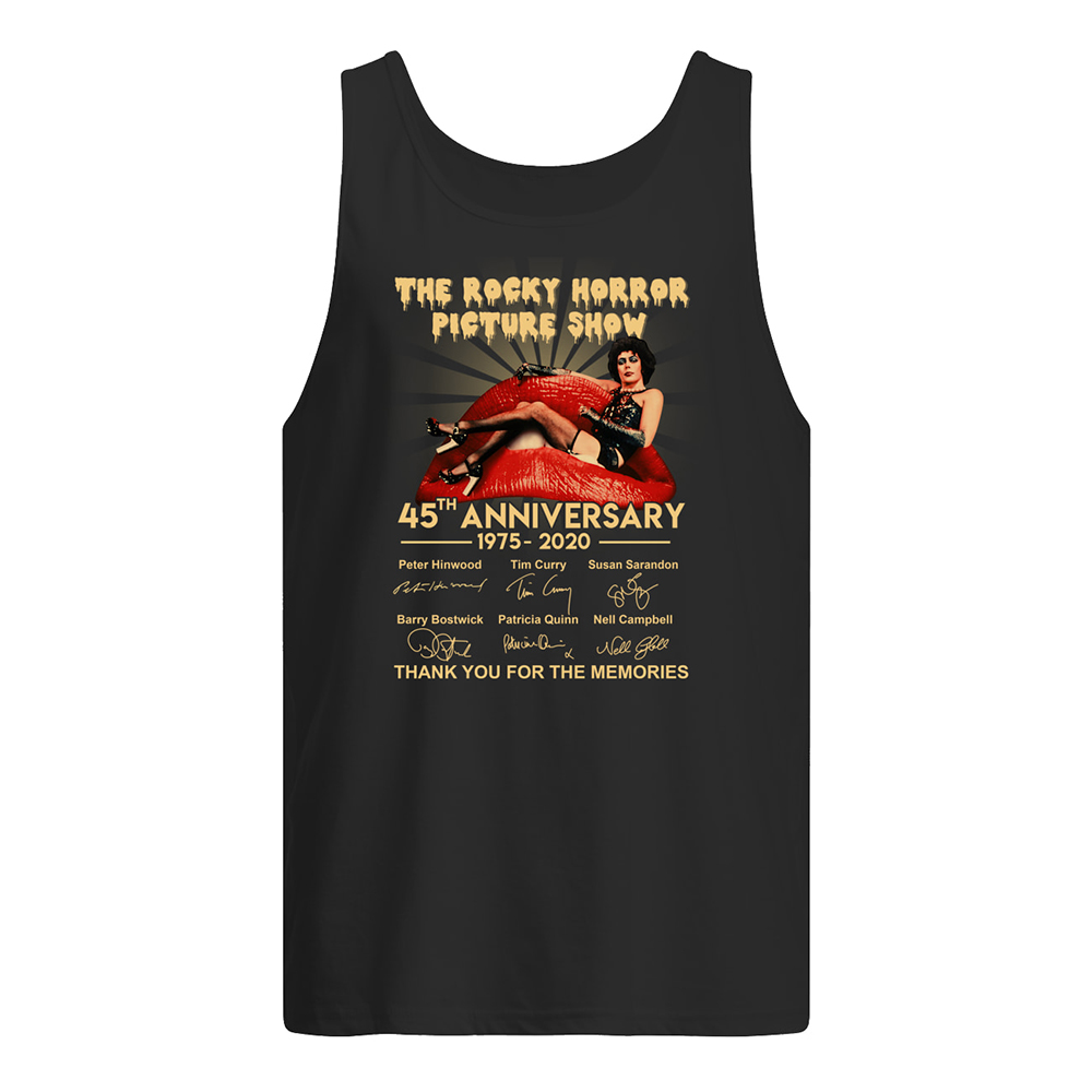 The rocky horror picture show 45th anniversary 1975-2020 signatures tank top