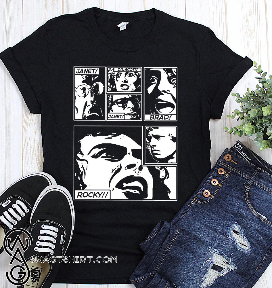 The rocky horror picture show comic shirt
