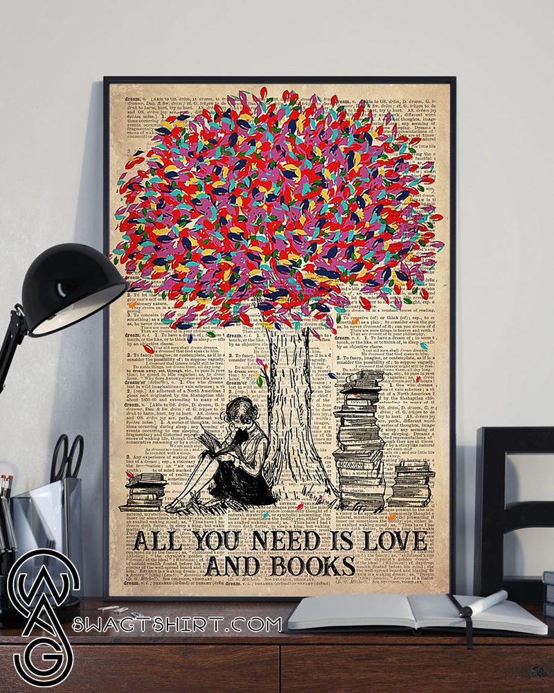Tree book all you need is love and books poster