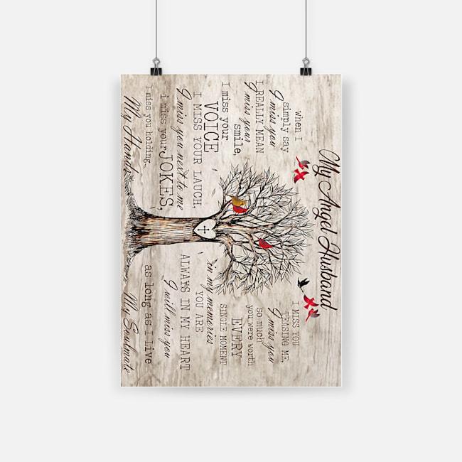Tree cardinal my angel husband poster 2
