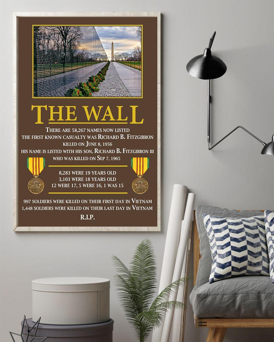 Veterans at vietnam the wall poster 2