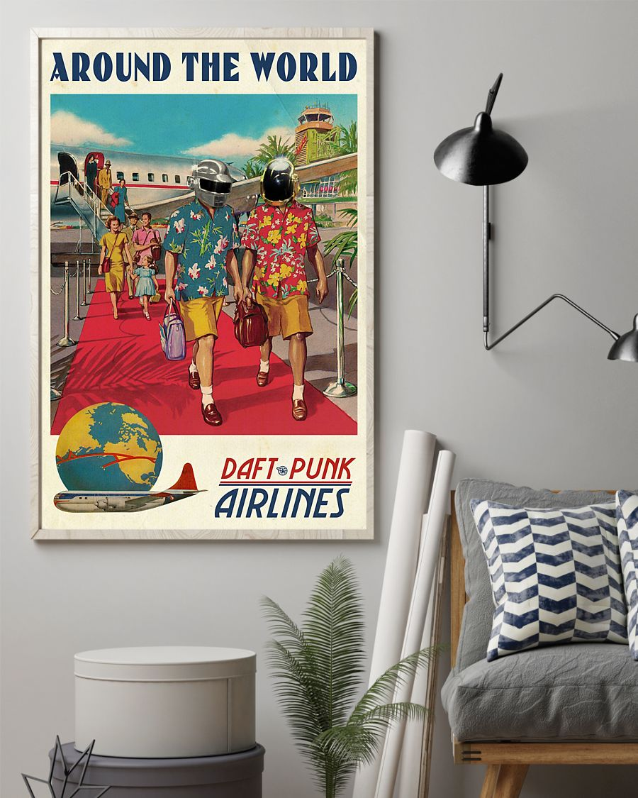 Wall art around the world daft punk vintage poster 3