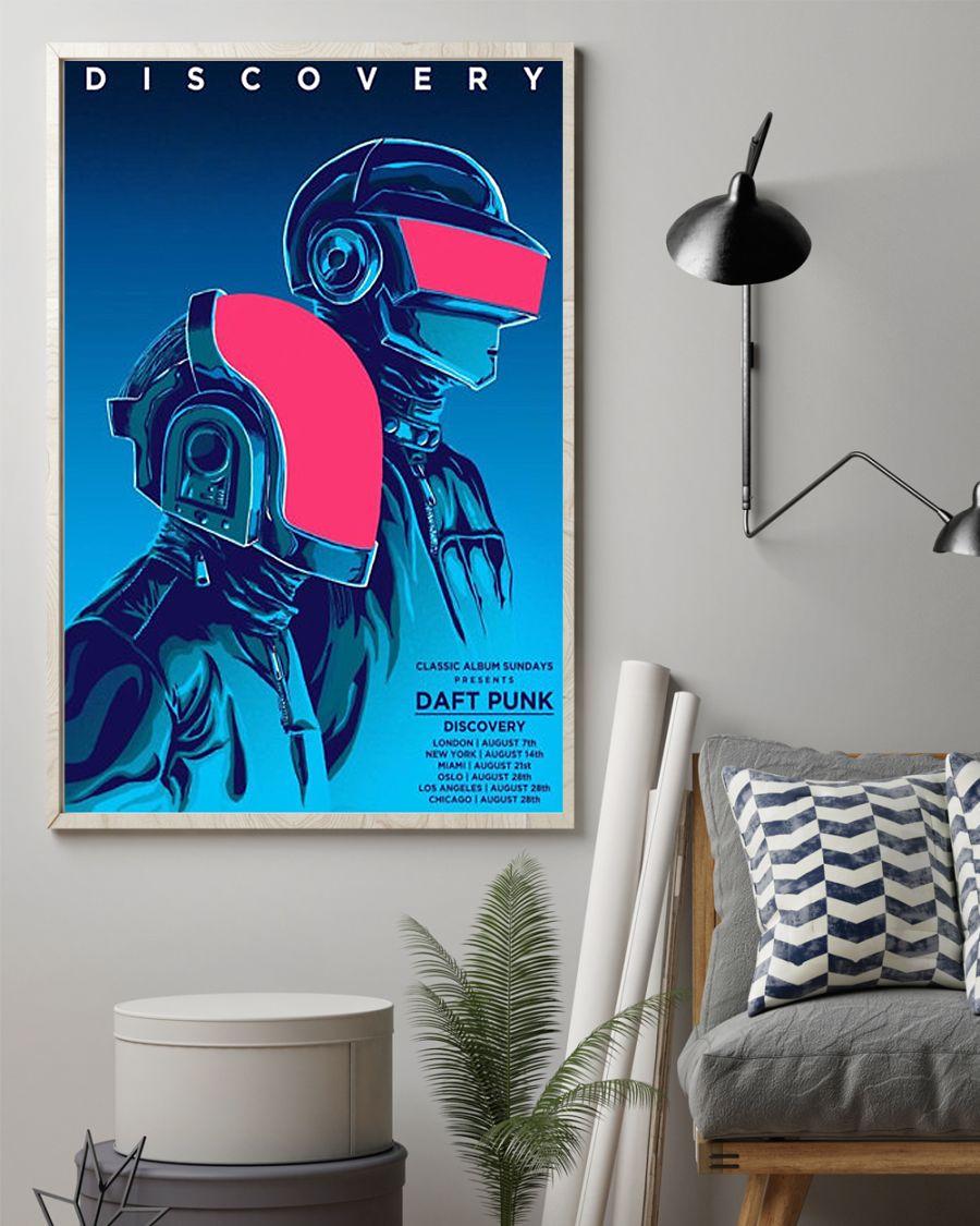 Wall art concert art music pop-art daft punk poster 1