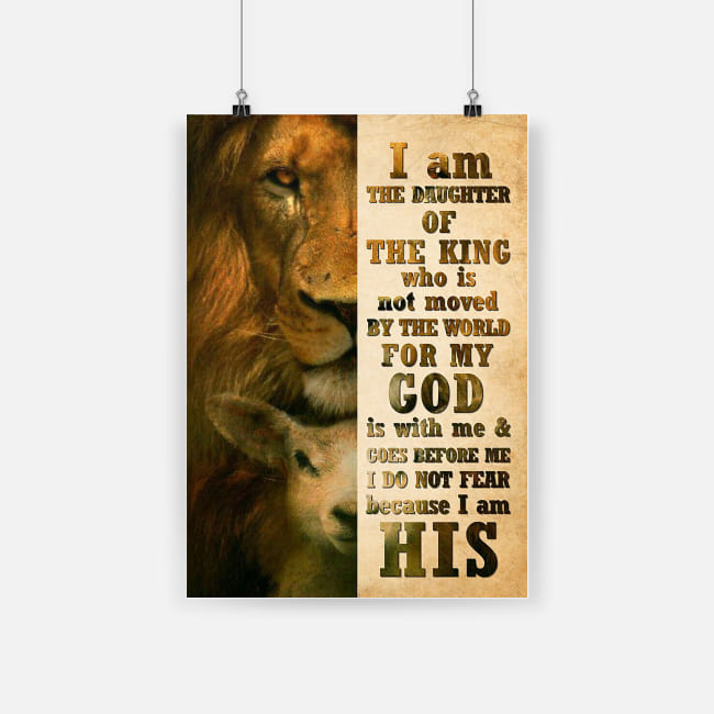 lion i am the daughter of a king who is not moved by the world for my god poster 1