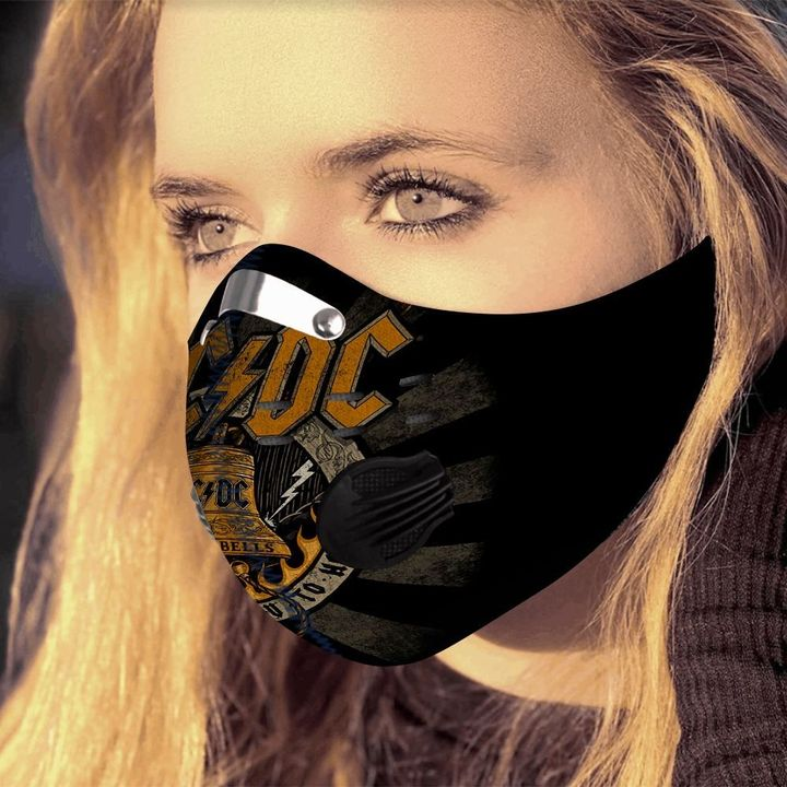 ACDC hells bells filter activated carbon pm 2,5 face mask 2
