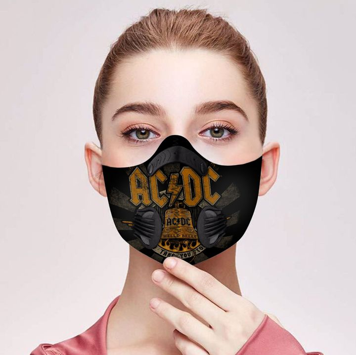 ACDC hells bells filter activated carbon pm 2,5 face mask 4