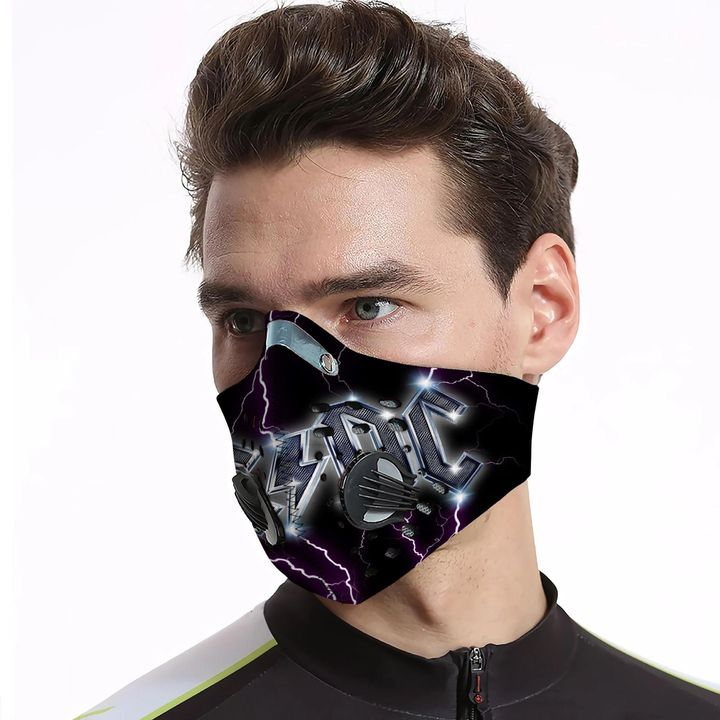ACDC rock band filter activated carbon pm 2,5 face mask 3