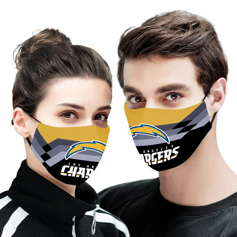Angeles chargers full printing face mask 4