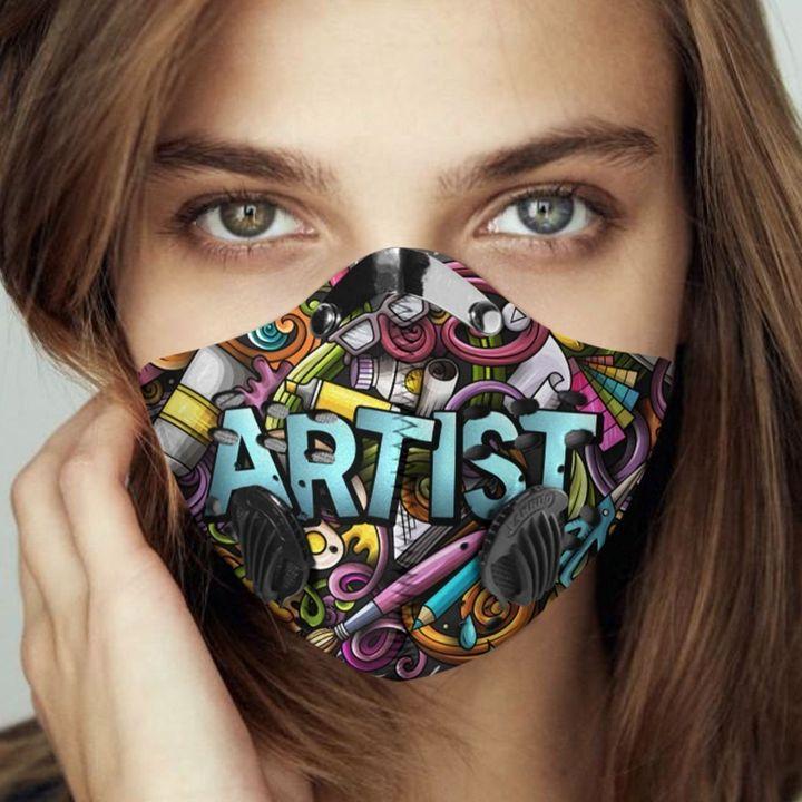 Artist corner filter activated carbon face mask 1