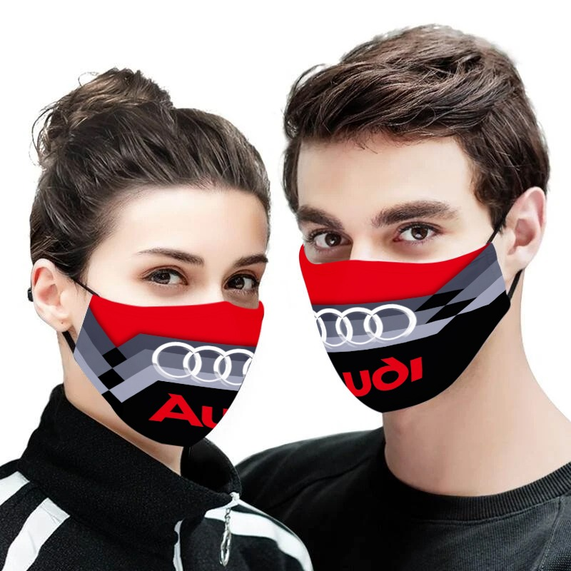 Audi logo full printing face mask 1