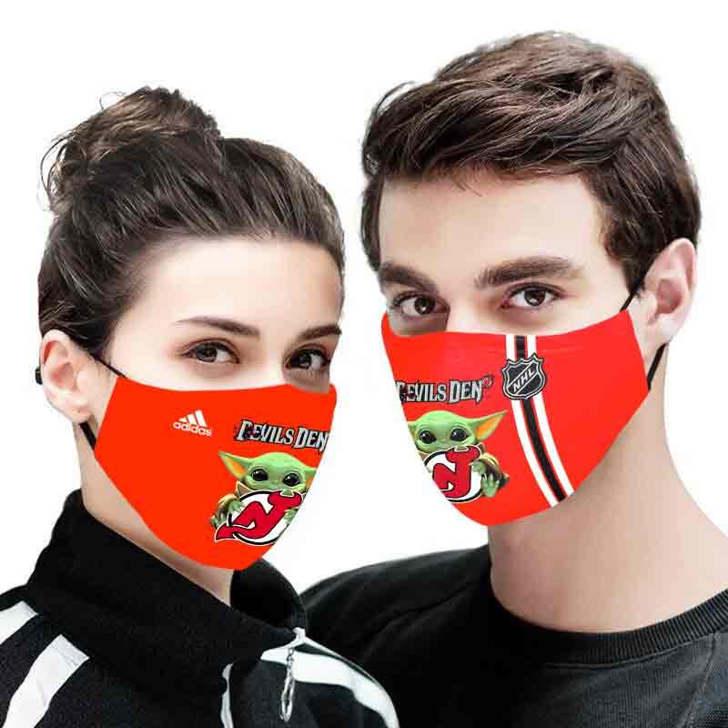 Baby yoda devils den full printing face mask 1