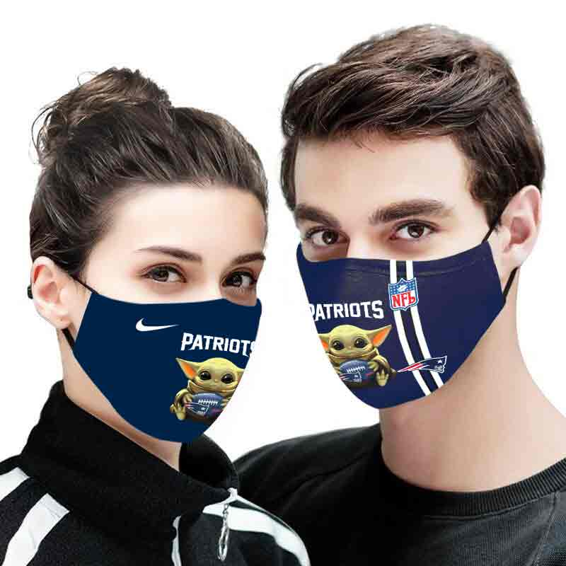 Baby yoda new england patriots full printing face mask 1