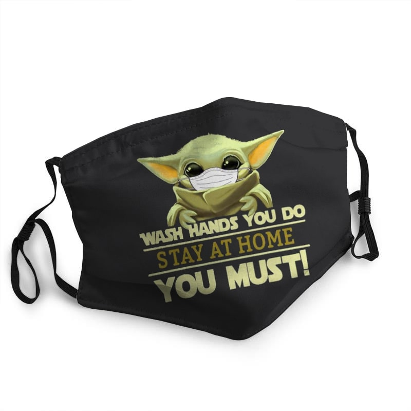 Baby yoda wash hands you do stay at home you must coronavirus face mask 2