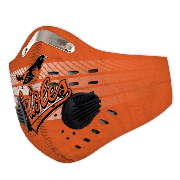 Baltimore orioles filter activated carbon face mask 2