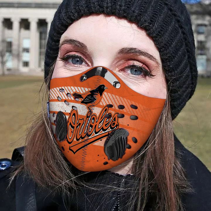 Baltimore orioles filter activated carbon face mask 3