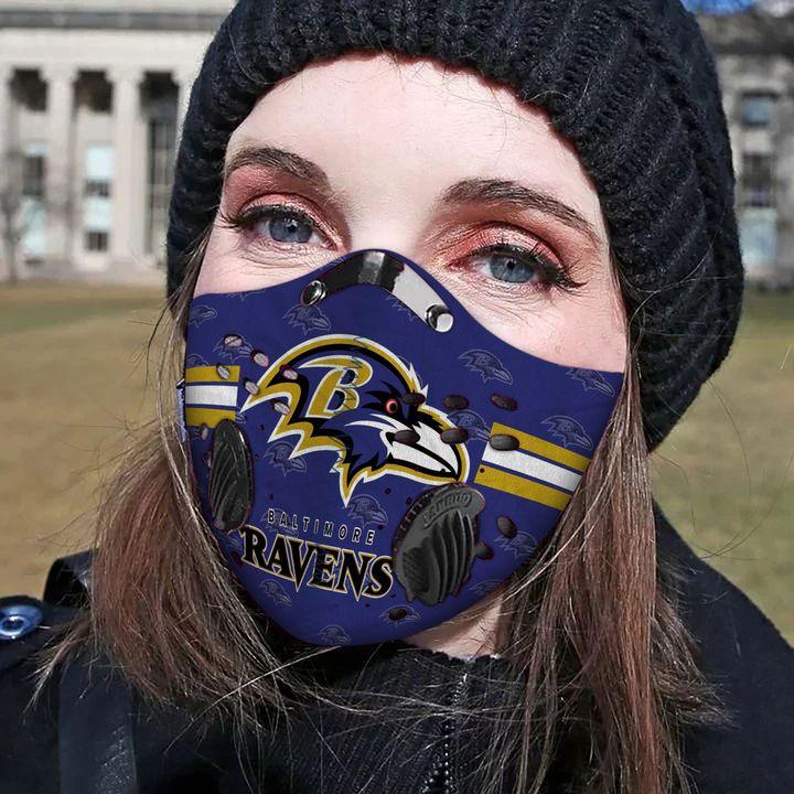 Baltimore ravens carbon pm 2,5 face mask 3