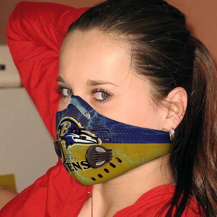 Baltimore ravens football carbon pm 2,5 face mask 2