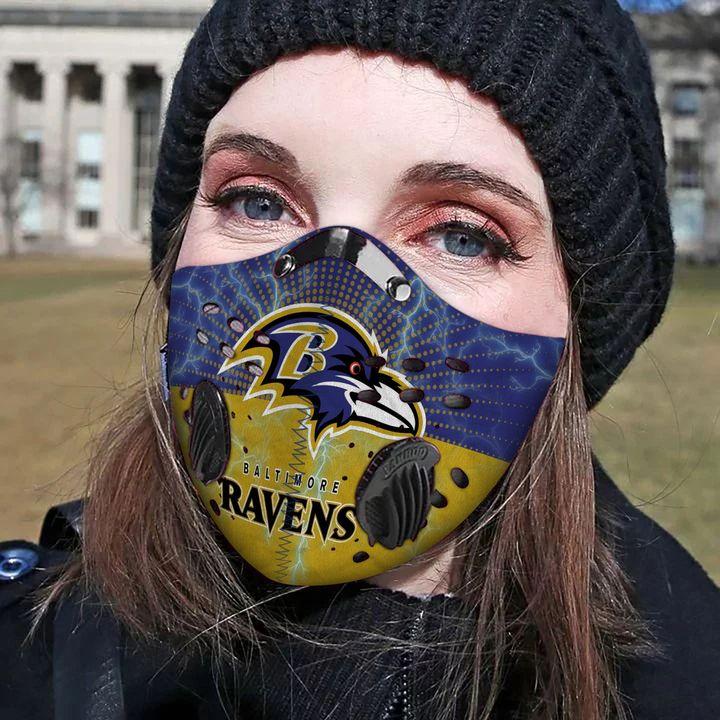Baltimore ravens football carbon pm 2,5 face mask 3