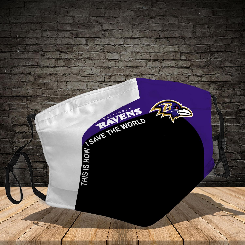 Baltimore ravens team full printing face mask 1