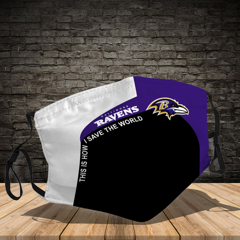 Baltimore ravens team full printing face mask 3