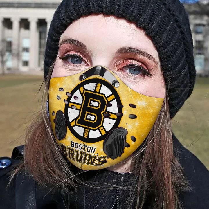 Boston bruins filter activated carbon face mask 3