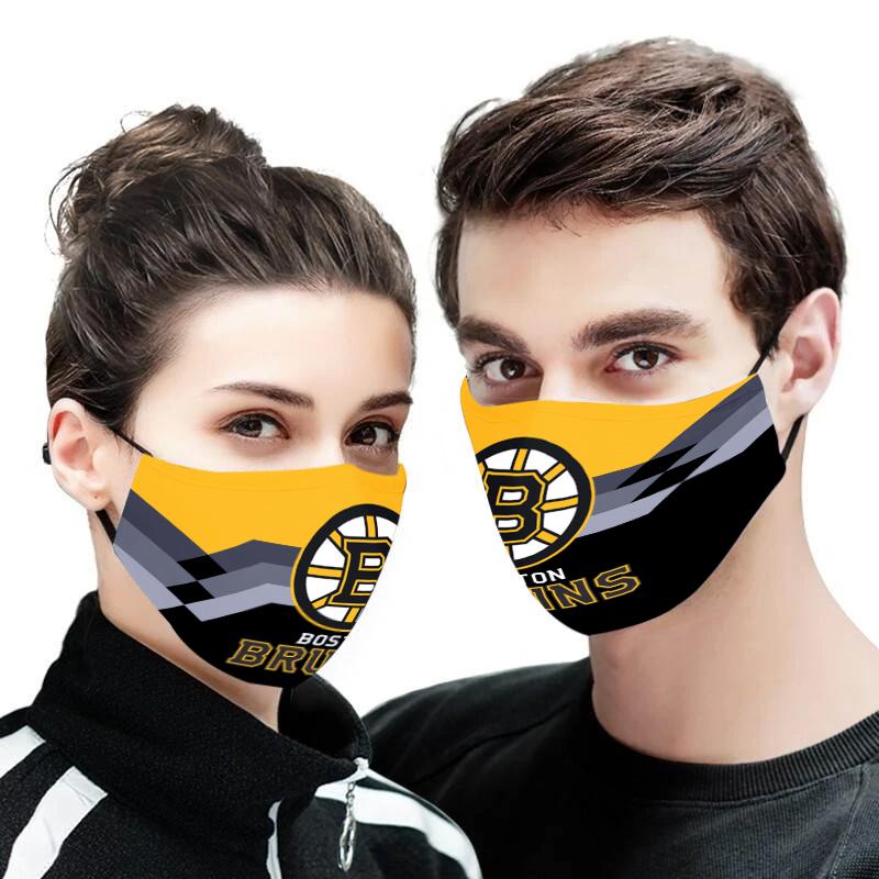 Boston bruins full printing face mask 2
