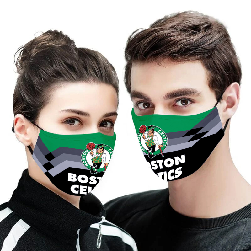 Boston celtics full printing face mask 1