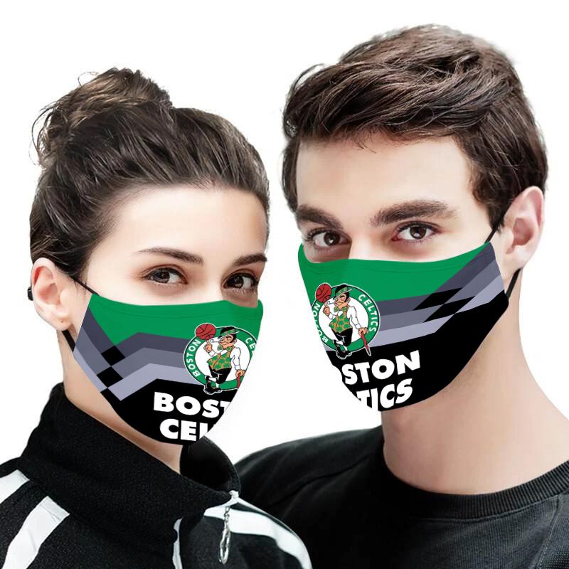Boston celtics full printing face mask 3