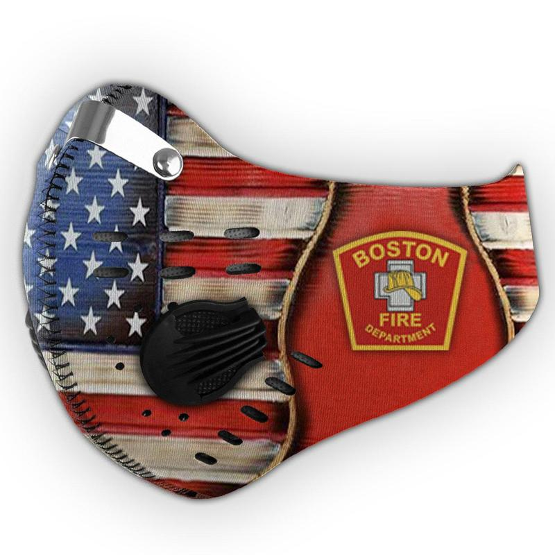 Boston fire department filter activated carbon face mask 2