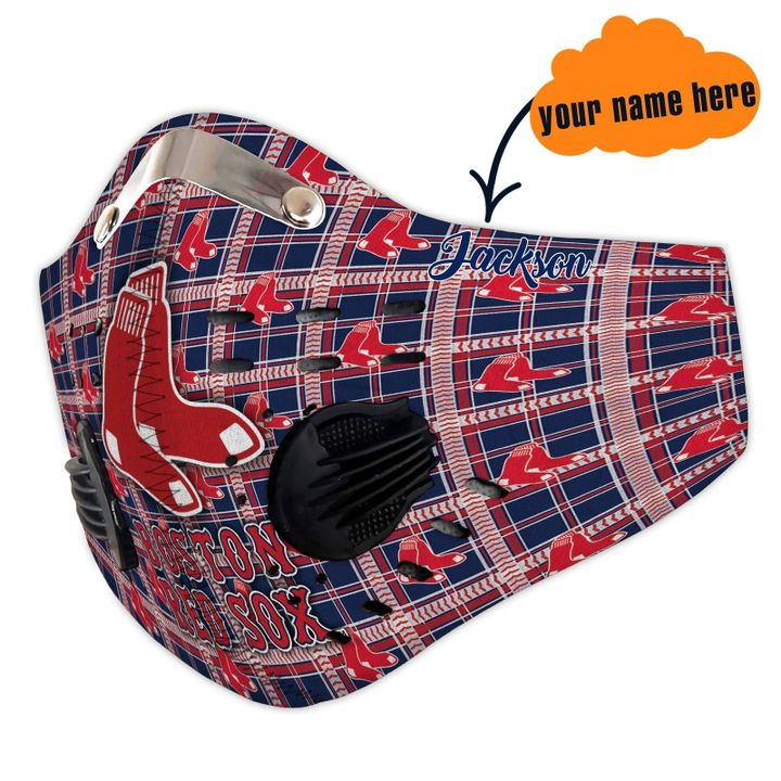 Boston red sox filter activated carbon face mask 1