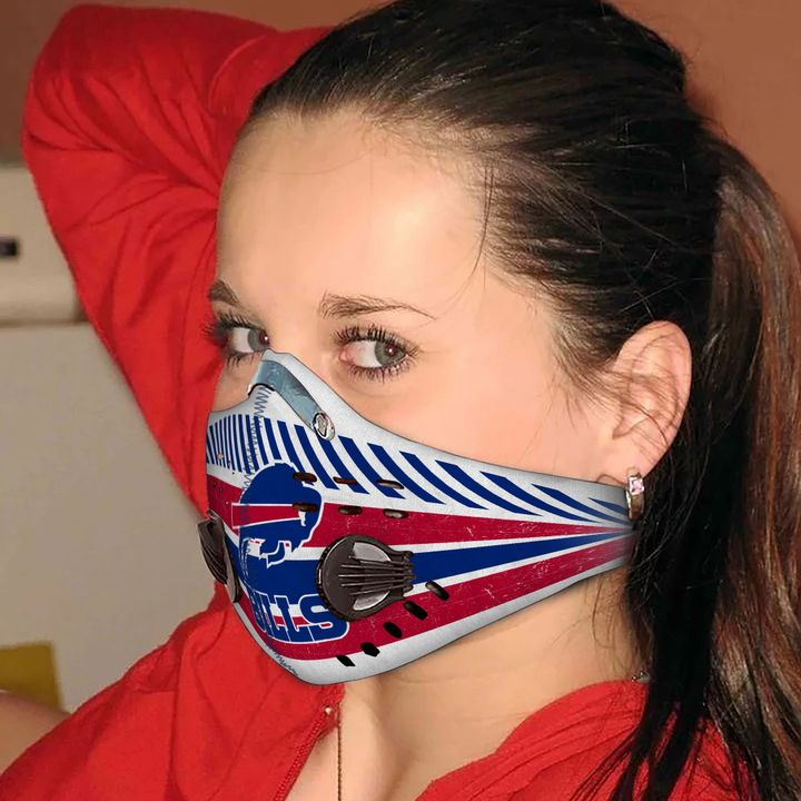 Buffalo bills carbon pm 2,5 face mask 2