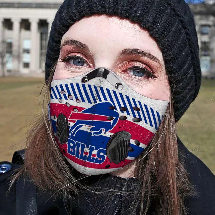 Buffalo bills carbon pm 2,5 face mask 3