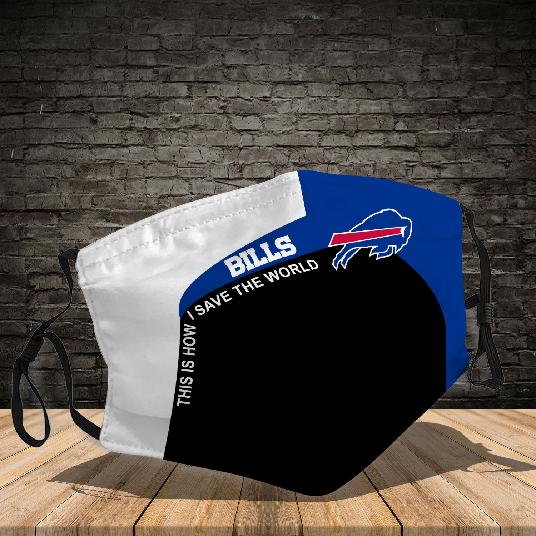 Buffalo bills team full printing face mask 3