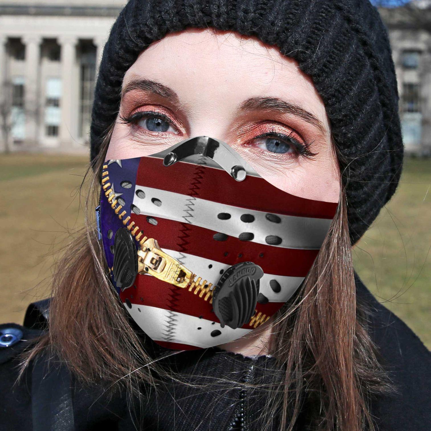 Cannabis purple leaves carbon pm 2,5 face mask 3