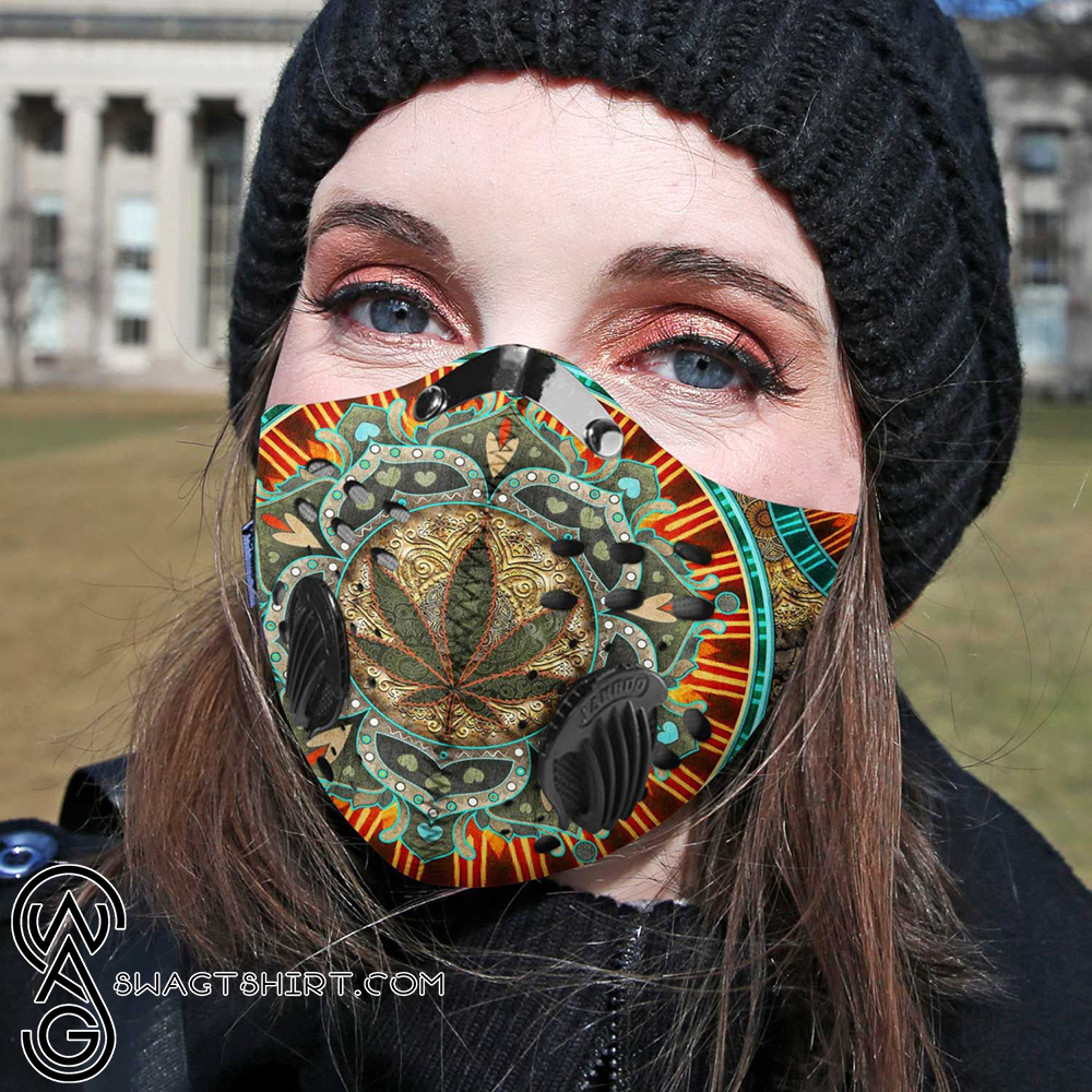 Cannabis weed sassy carbon pm 2,5 face mask