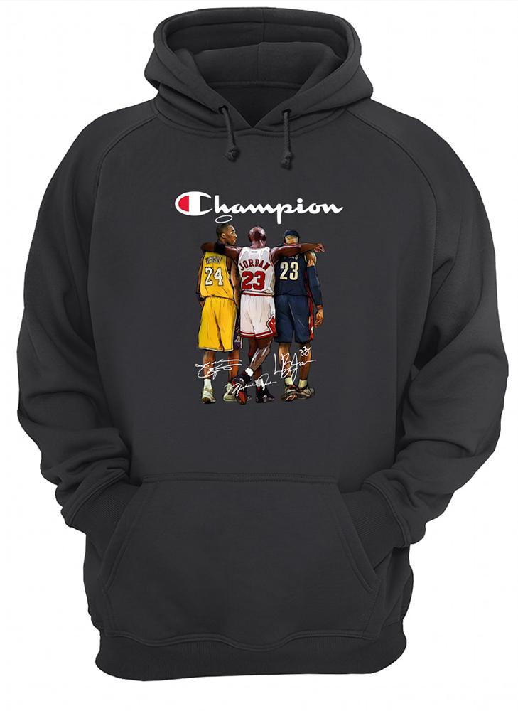 Champion kobe bryant michael jordan lebron james hoodie
