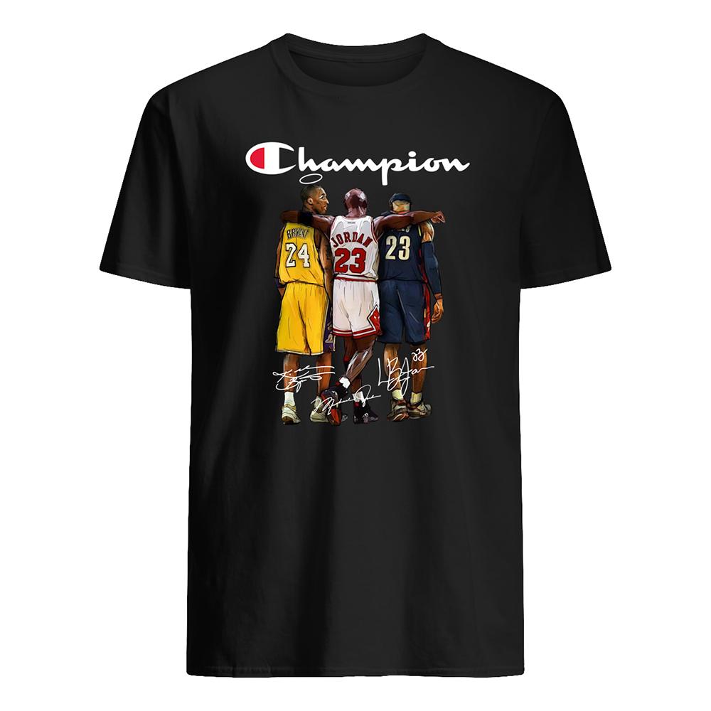 Champion kobe bryant michael jordan lebron james mens shirt