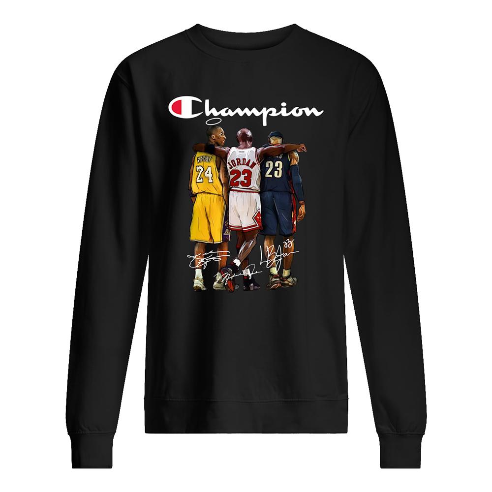 Champion kobe bryant michael jordan lebron james sweatshirt