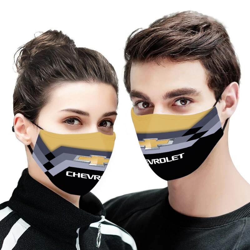 Chevrolet logo full printing face mask 1