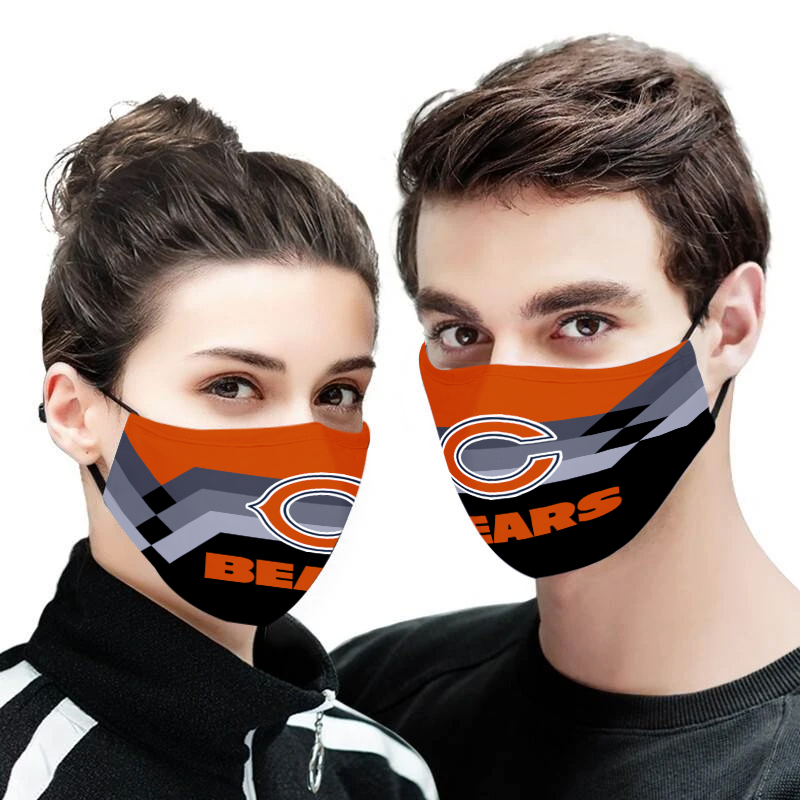 Chicago bears full printing face mask 1