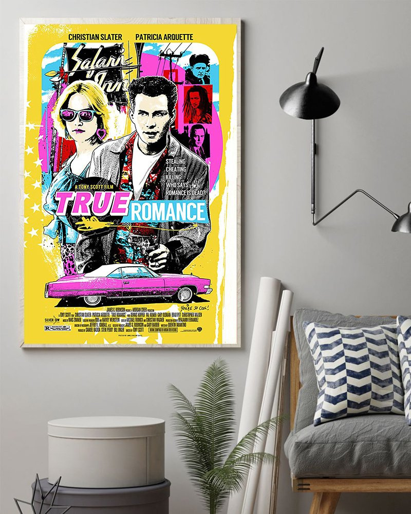 Christian slater and patricia arquette true romance poster 1