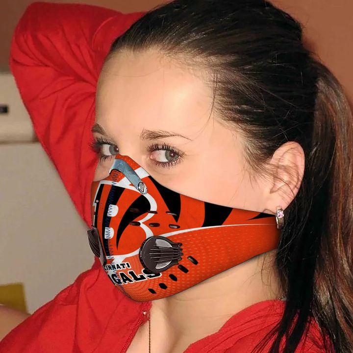 Cincinnati bengals carbon pm 2,5 face mask 2